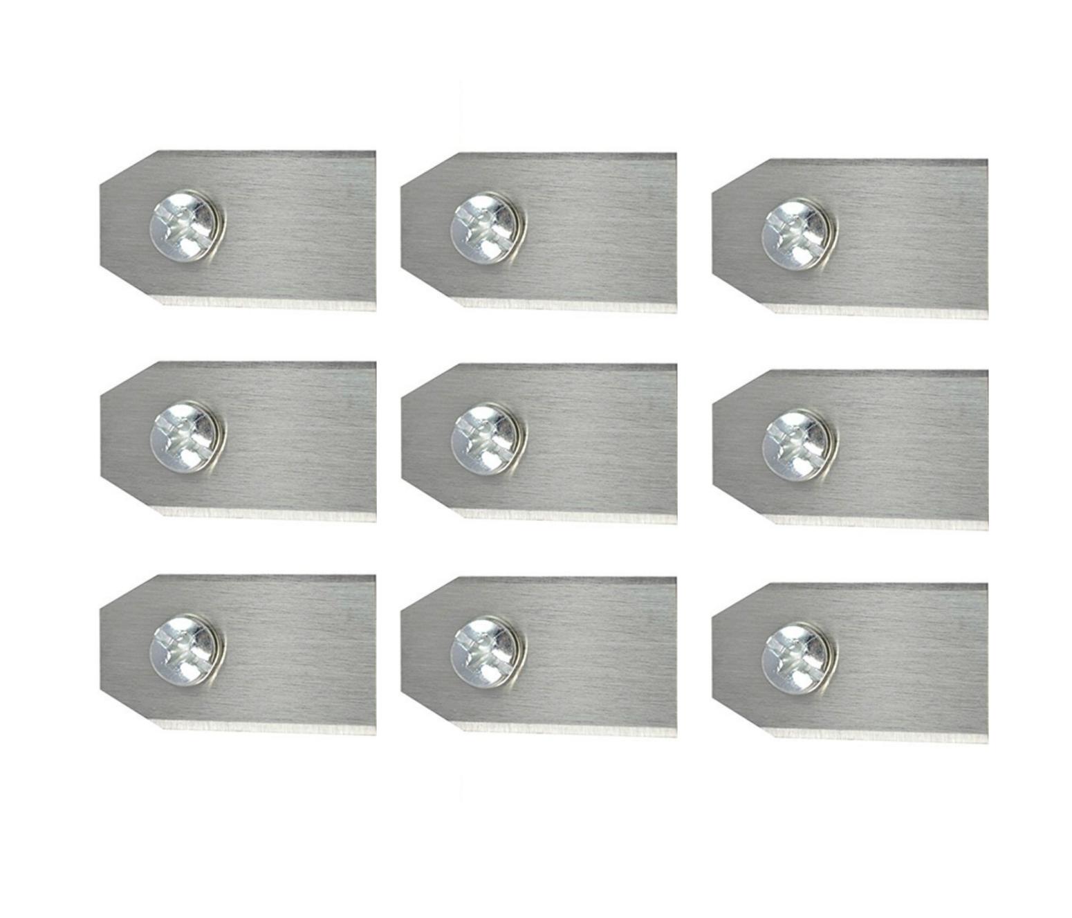 Messer Ersatzmesser 9er für Gardena Mähroboter R38Li R40Li R50Li R70Li Sileno
